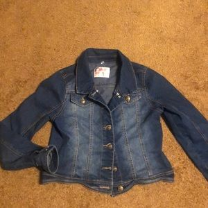 Justice denim jacket size 12-14 , essential piece